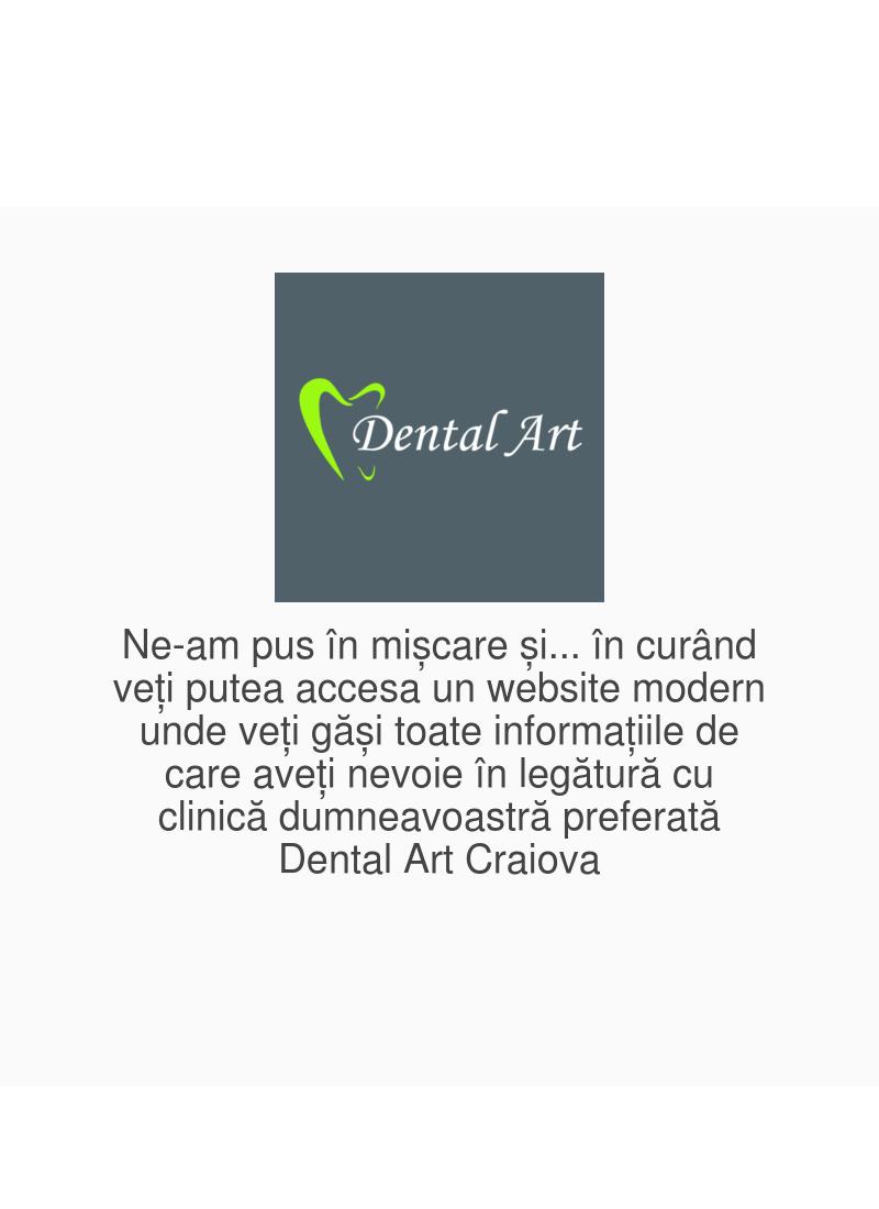 DentalArt servicii medicale site web prezentare