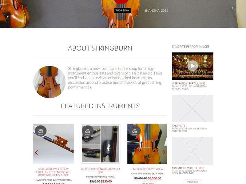 Stringburn engleza site web