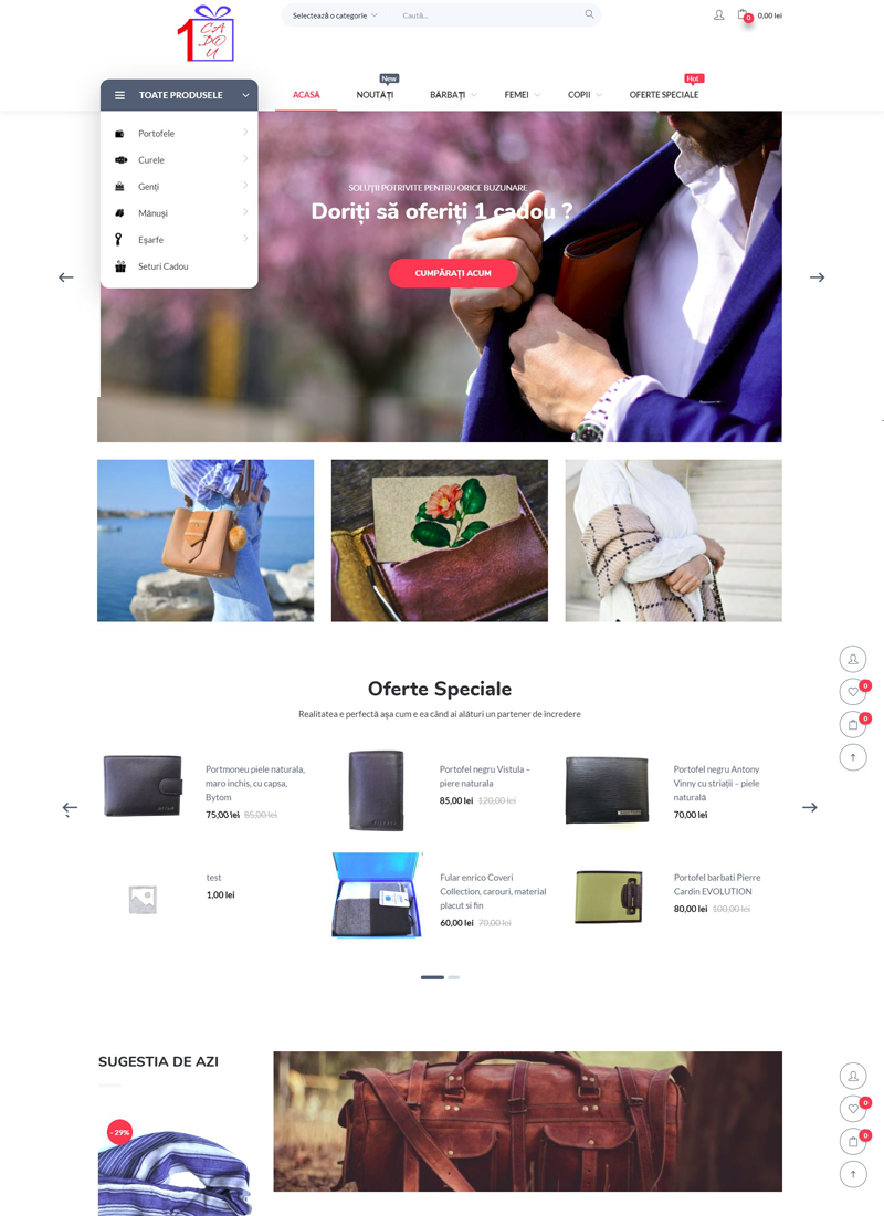 VreauUnCadou magazin online promovare online