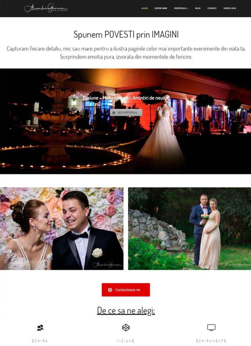 AlexandruGhionaru site web prezentare optimizat SEO