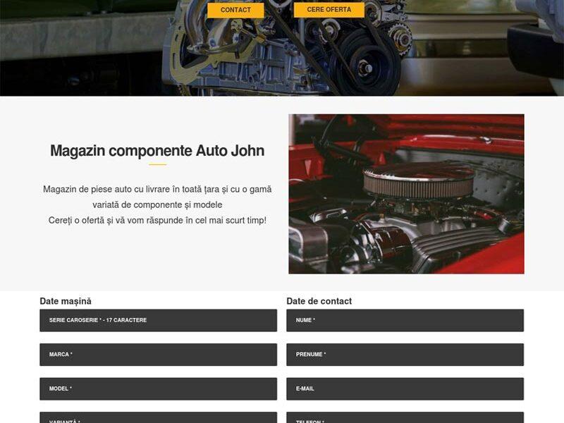AutoJohn site web prezentare