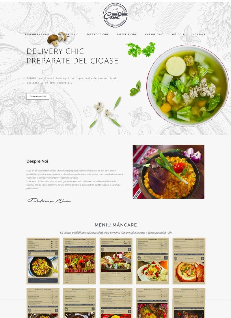 catering site web prezentare