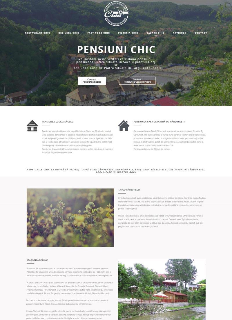 Pensiune site web prezentare