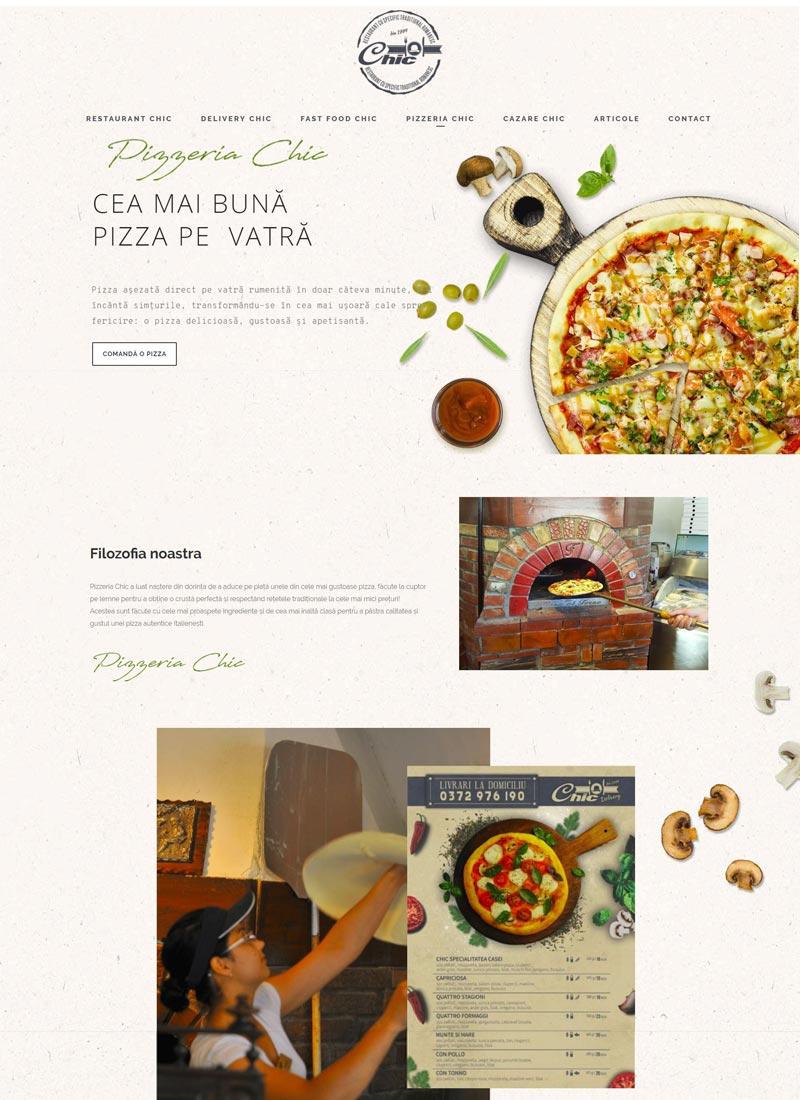 pizzerie site web prezentare