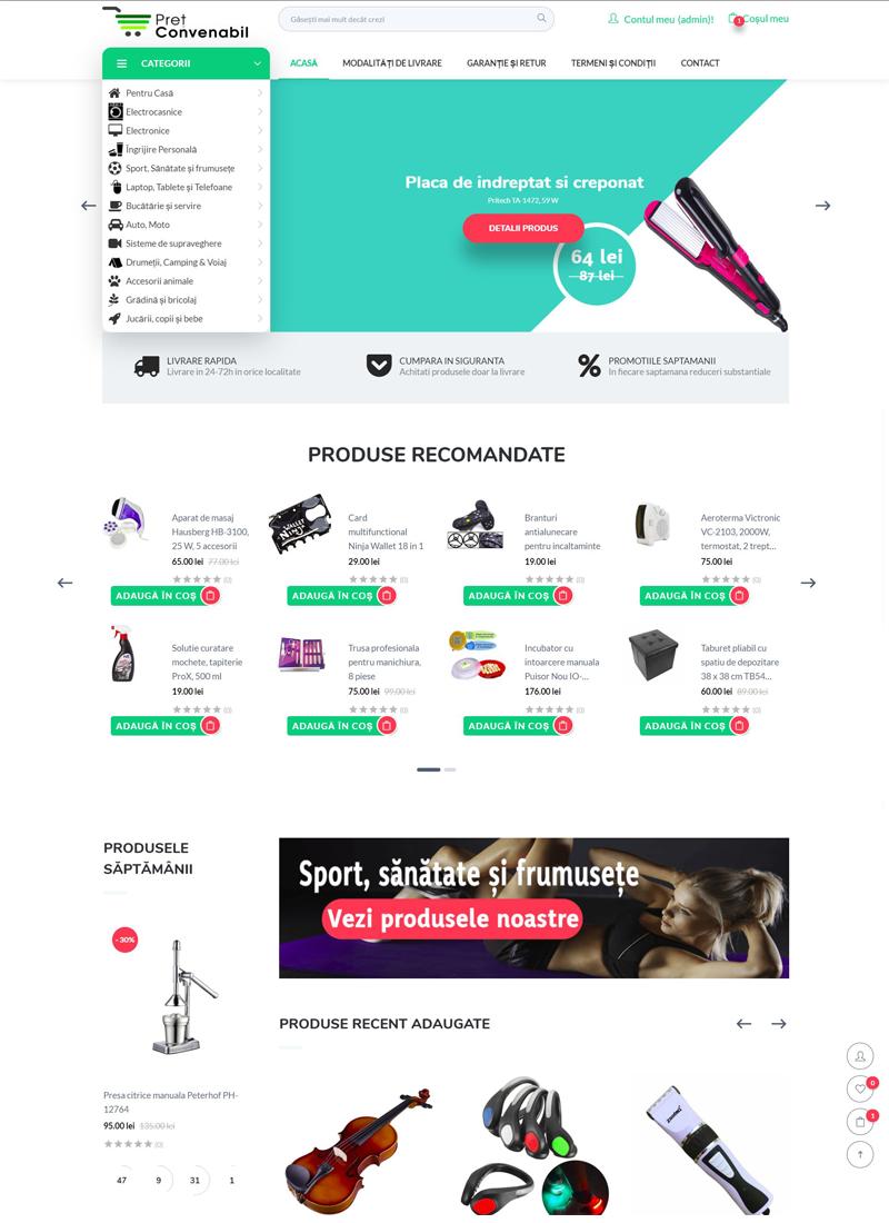 PretConvenabil magazin online optimizat