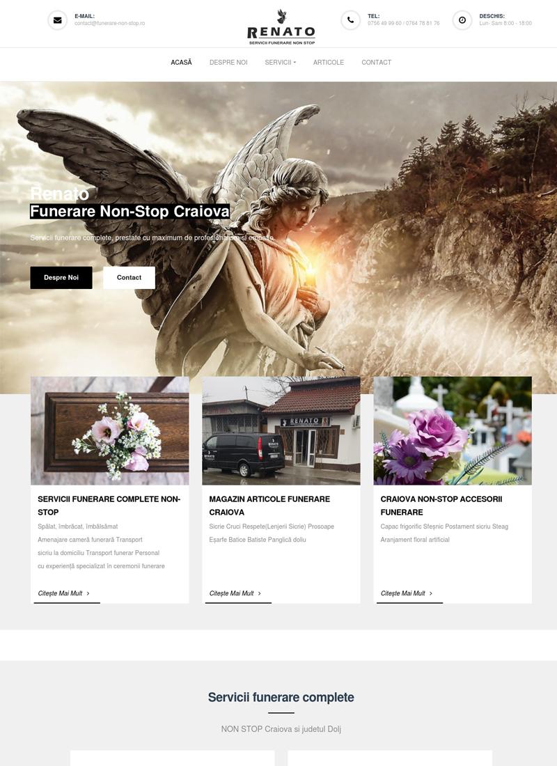 Renato funerare site web prezentare