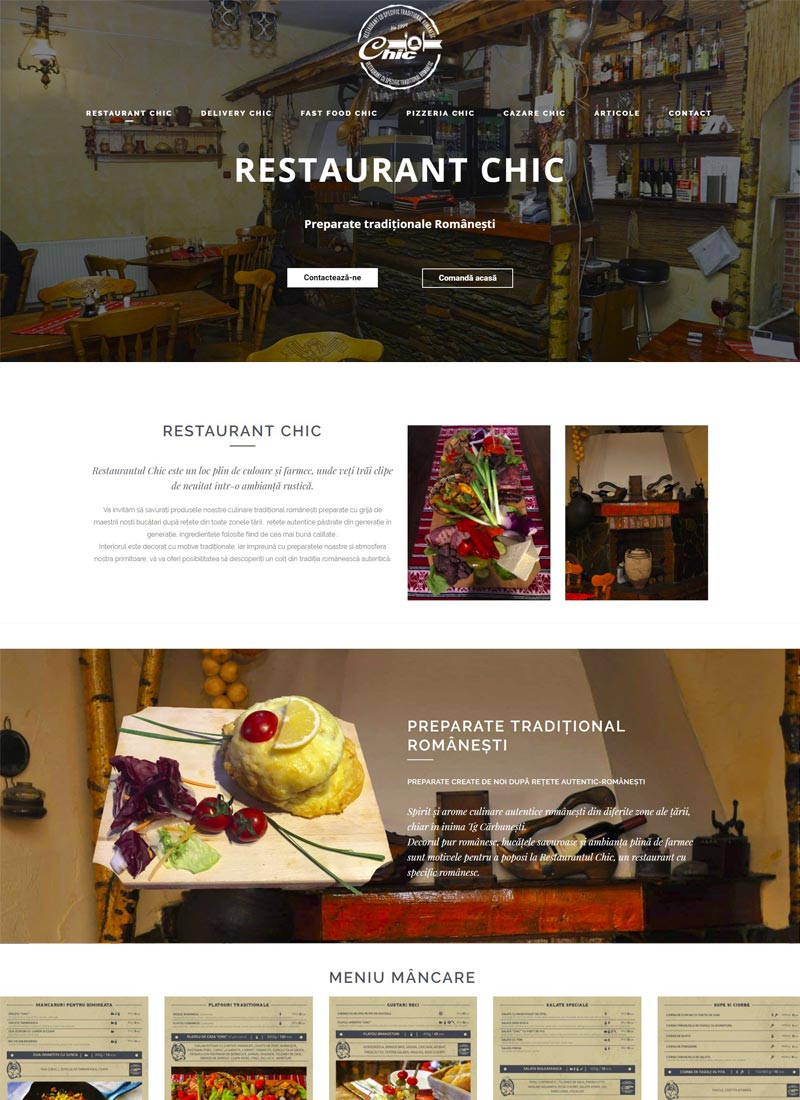 restaurant site web prezentare